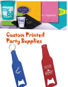 Custom printed party accessories