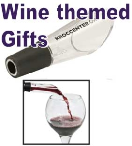 Custom printed lasered and etched wine lovers and company gifts