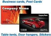 Post cards, business cards and more