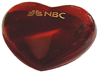 NBC Glass Heart Paperweight copy