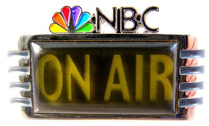 NBC on air lapel pin